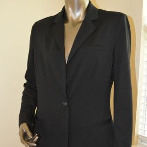 NWT Mossimo Black Blazer Faux Leather Button M